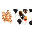 happy halloween party calligraphy banner ghost vector image