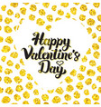 happy valentines day hand drawn card vector image vector image