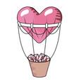 heart balloons with basquet vector image vector image