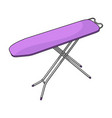 ironing board dry cleaning single icon in cartoon vector image