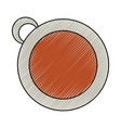isolated coffee cup vector image vector image