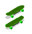 isometric electric skateboard or longboard vector image