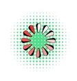 Loading process circular icon comics style vector image vector image