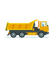 lorry for transportation of goods and materials vector image