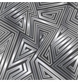 maze seamless pattern with metal effect vector image