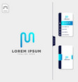 minimal m initial logo template free business vector image vector image