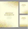 Modern geometric abstract brochure template design vector image