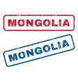 Mongolia Rubber Stamps vector image vector image