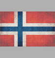 Mosaic flag of Norway vector image vector image