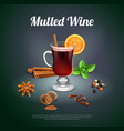 mulled wine background vector image vector image