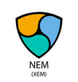 nem cryptocurrency symbol vector image vector image