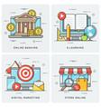 online banking e-learning digital marketing vector image vector image
