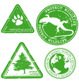 Protect wildlife stamp vector image vector image