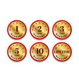 quality certification warranty badge icon set 1 vector image