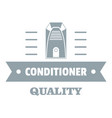 quality conditioner logo simple gray style vector image vector image