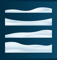 realistic snowdrifts collection winter snowy vector image vector image