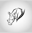 rhinoceros head vector image vector image