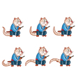 Samurai Mouse Idle Sprite vector image vector image
