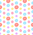 seamless pattern with colored lollipops vector image