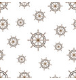 seamless pattern with image of the helm on world vector image vector image