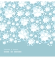 Shiny diamonds horizontal border seamless pattern vector image