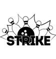 strike on white background vector image
