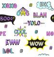 teen slang words cool seamless pattern vector image vector image
