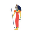 the goddess egypt bast with head a cat vector image vector image
