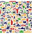 Travel Icons Pattern vector image vector image