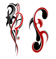 Two tattoo element vector image vector image