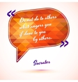 Typographical Background with quote vector image