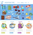 Vacation and Tourism Infographics vector image vector image