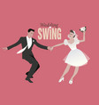 wedding dance bride and groom dancing swing lindy vector image vector image