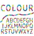 Colour alphabet vector image