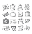 hand draw money vector image
