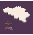 3d map of belgium vector image vector image