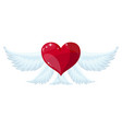 angel wings over white background vector image