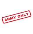 Army Only Text Rubber Stamp vector image vector image