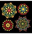 Art ornament set on black for your design vector image vector image