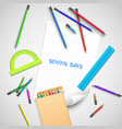 back to school light background vector image