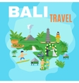 Background Map Bali Travel vector image vector image