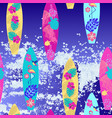 background surfboard seamless pattern vector image