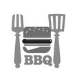 barbecue or bbq grill burger or hot dog sausage vector image vector image