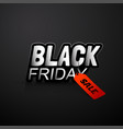 black friday banner with red sale tag on dark vector image vector image