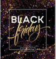 black friday poster template with glitter vector image vector image