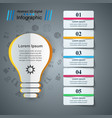 buld light - paper business infographic vector image vector image