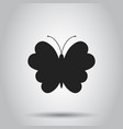 butterfly icon on isolated background business vector image vector image