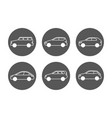 cars line icons set side view auto icons vector image vector image
