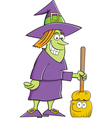 Cartoon Witch with a Broom vector image