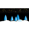 Christmas background with winter night landscape vector image